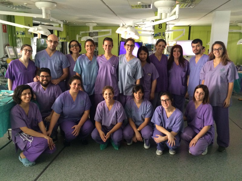 Curso de suturas laparoscópicas para residentes y adjuntos junior de la Sociedad de Cirugía de Galicia